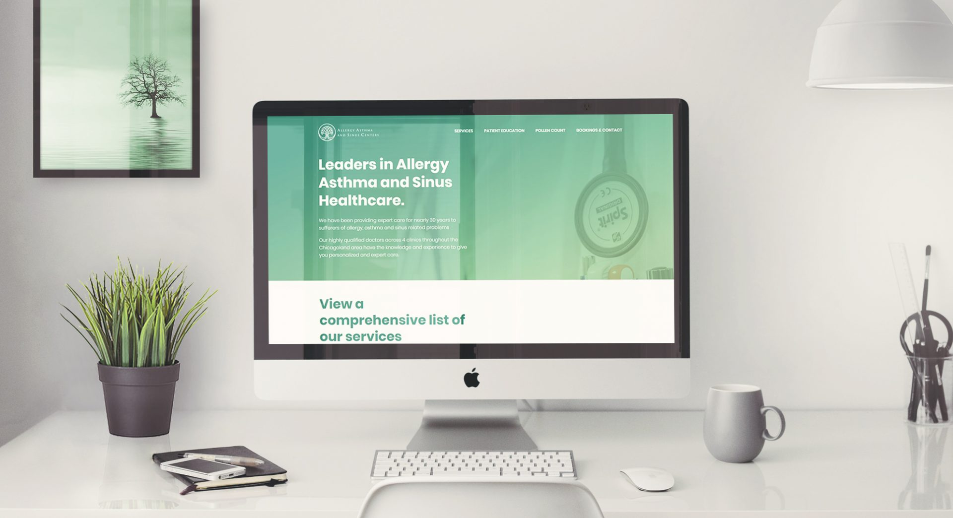 New Allergy, Asthma and Sinus Website (mockup)