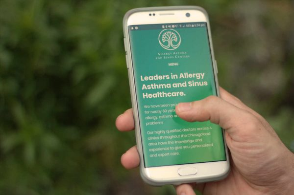 Allergy, Asthma and Sinus Centers' mobile website