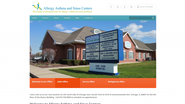 Old Allergy Asthma and Sinus Centers Website