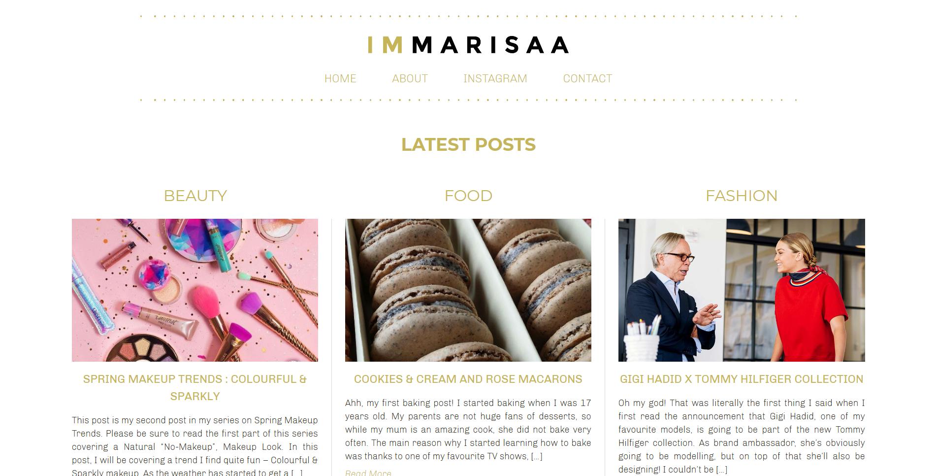 I'm Marisaa Homepage