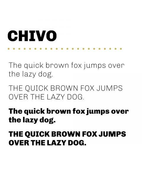 Primary Typeface - Chivo